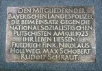 Plaque commemorating policemen.